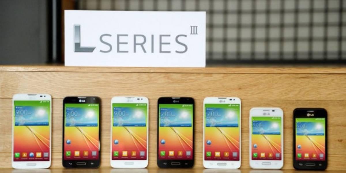 LG presenta la tercera generación de su linea L de móviles, ahora con KitKat