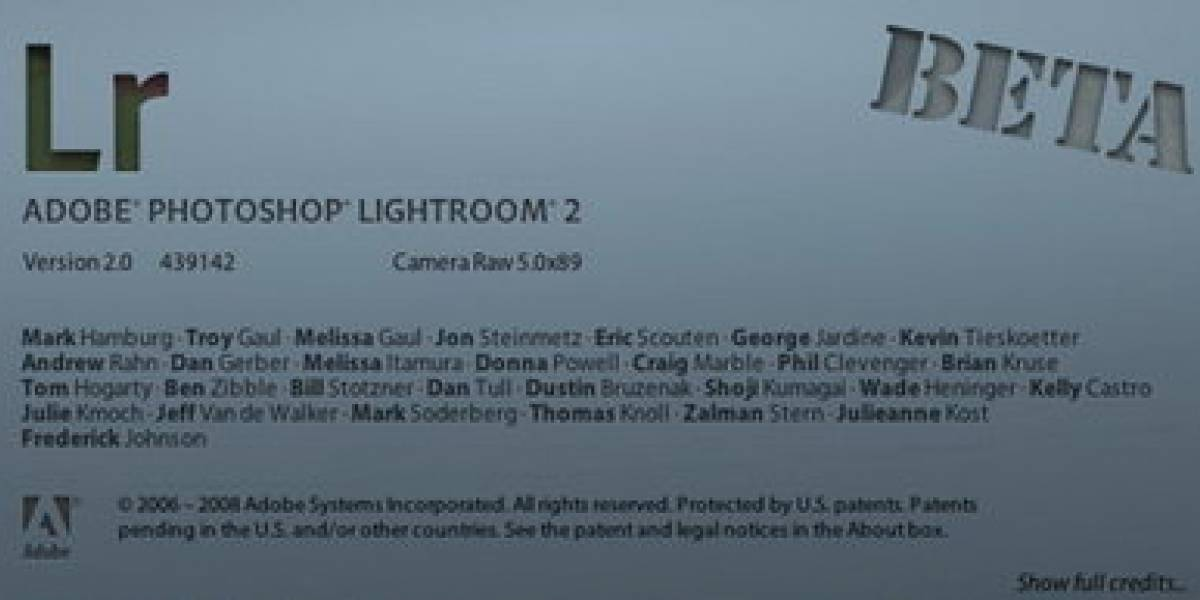 Adobe Lightroom 2.0 disponible como Beta público gratis