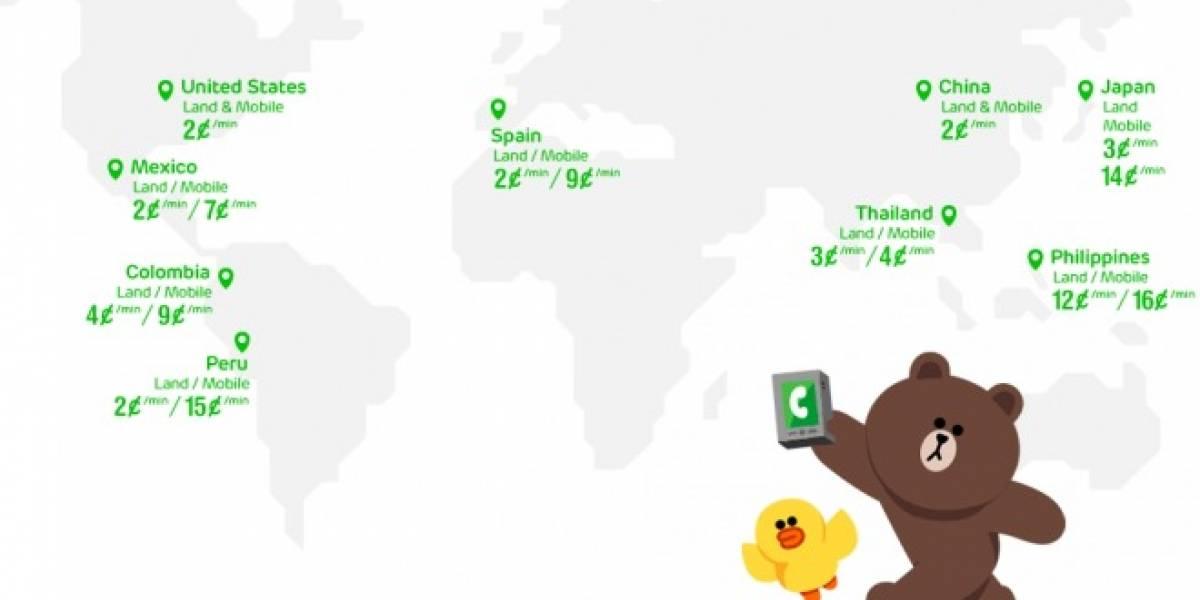 LINE abre su servicio de llamadas de voz pagadas en varios países de Latinoamérica