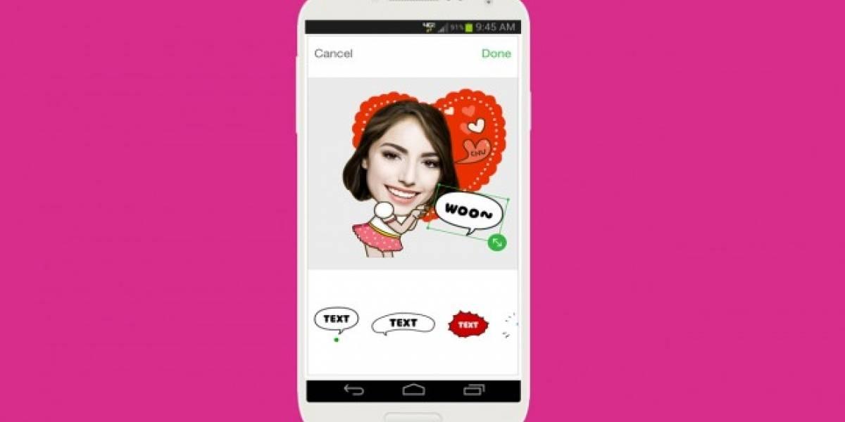 LINE presenta ycon, una app para crear Selfie Stickers