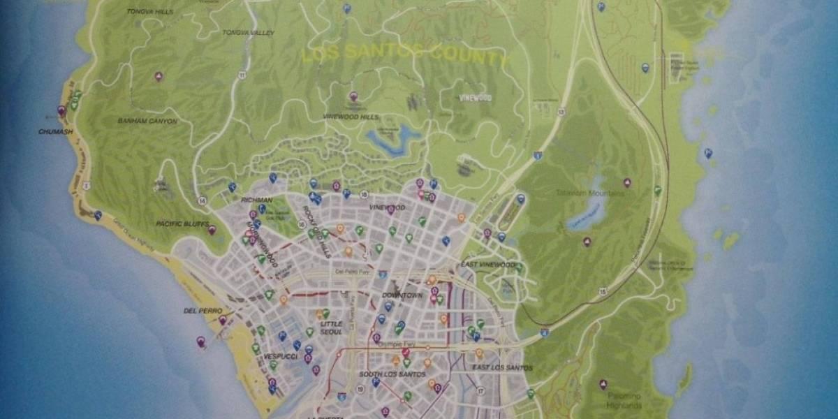 Ahora sí: Mapa de Los Santos y GTA V se filtra por la red