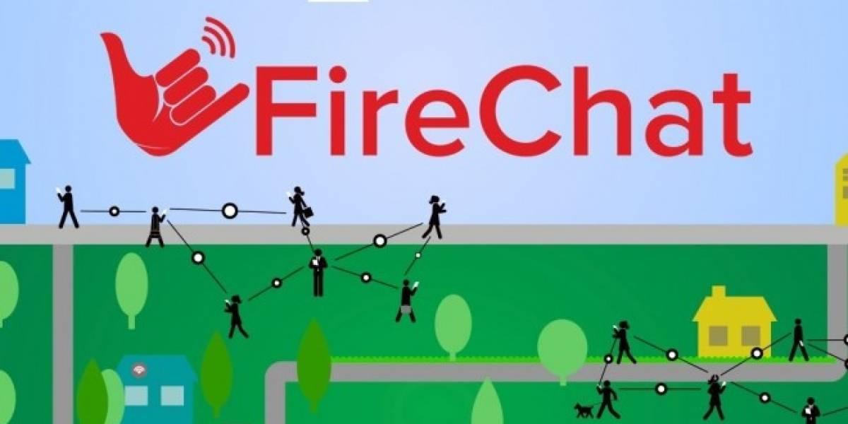 Firechat ya es compatible entre dispositivos iOS y Android