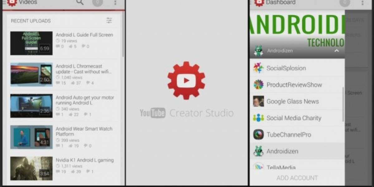 Google lanza YouTube Creator Studio para gestionar canales desde Android