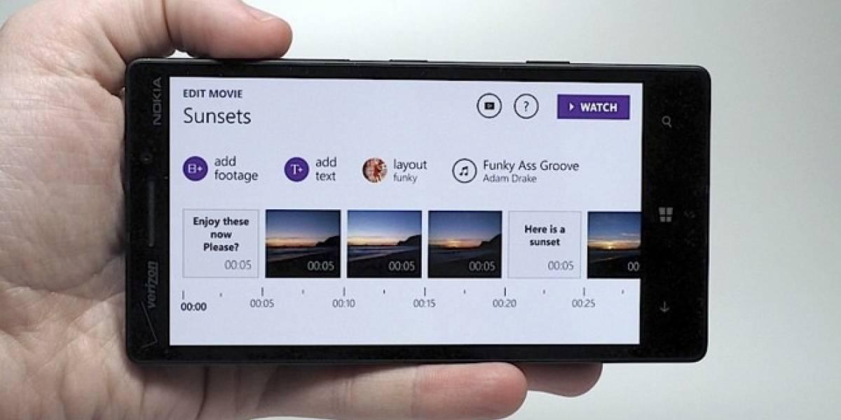 Microsoft estrena aplicación móvil para crear películas