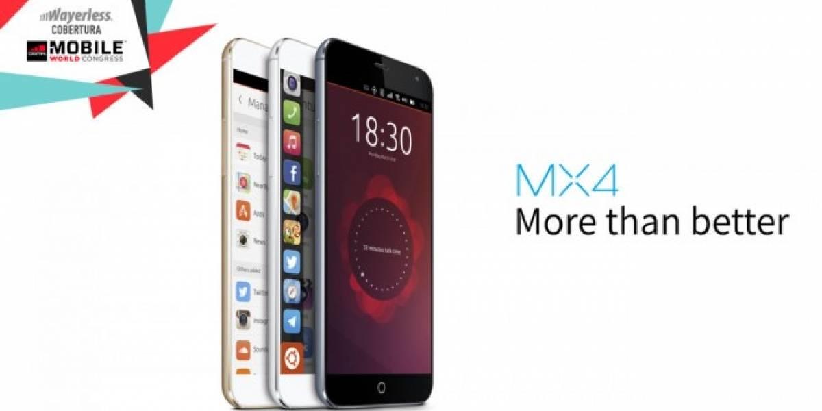Meizu MX4 con Ubuntu será lanzado muy pronto #MWC2015