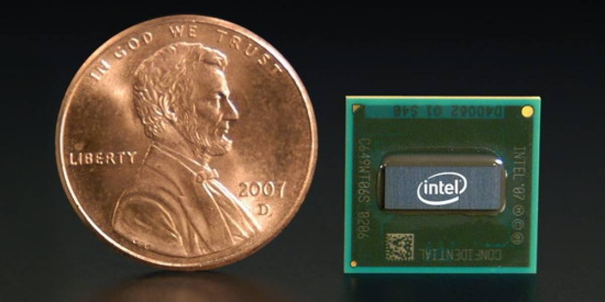 El de Intel es así de pequeño