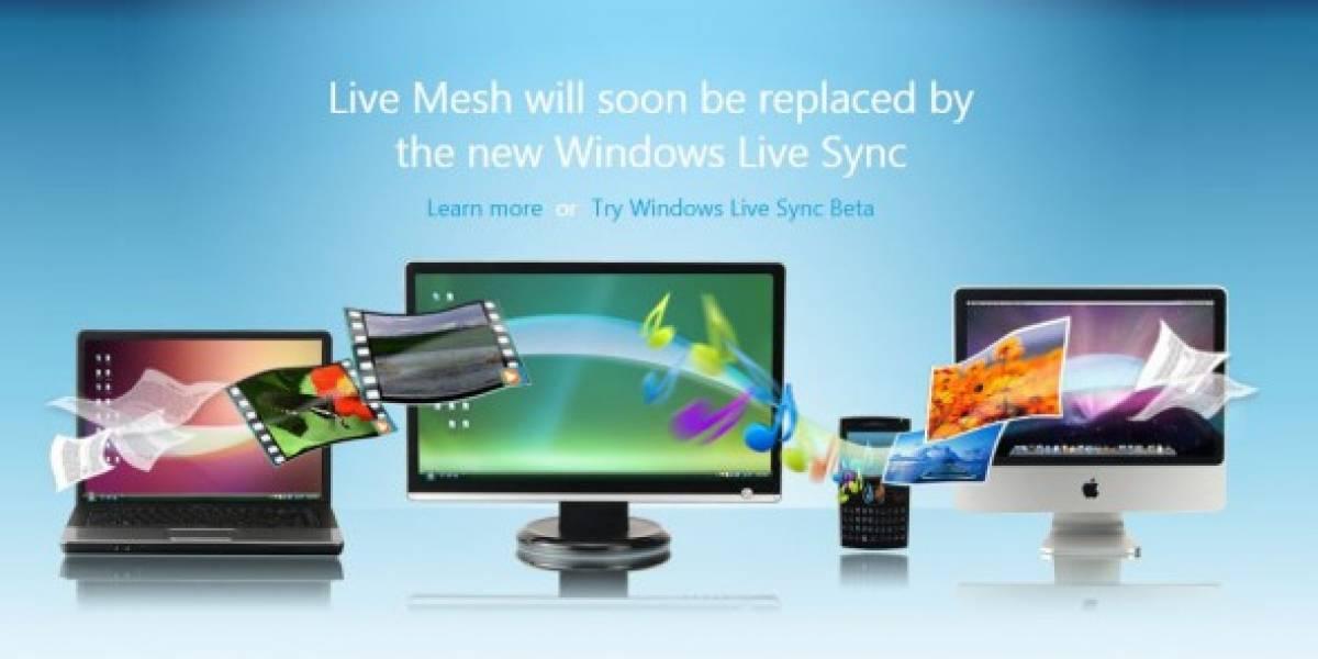 Windows Live Sync ahora es Windows Live Mesh