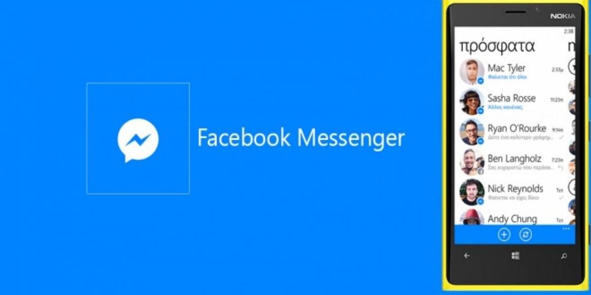 Facebook Messenger ahora permite enviar mensajes de voz en Windows Phone