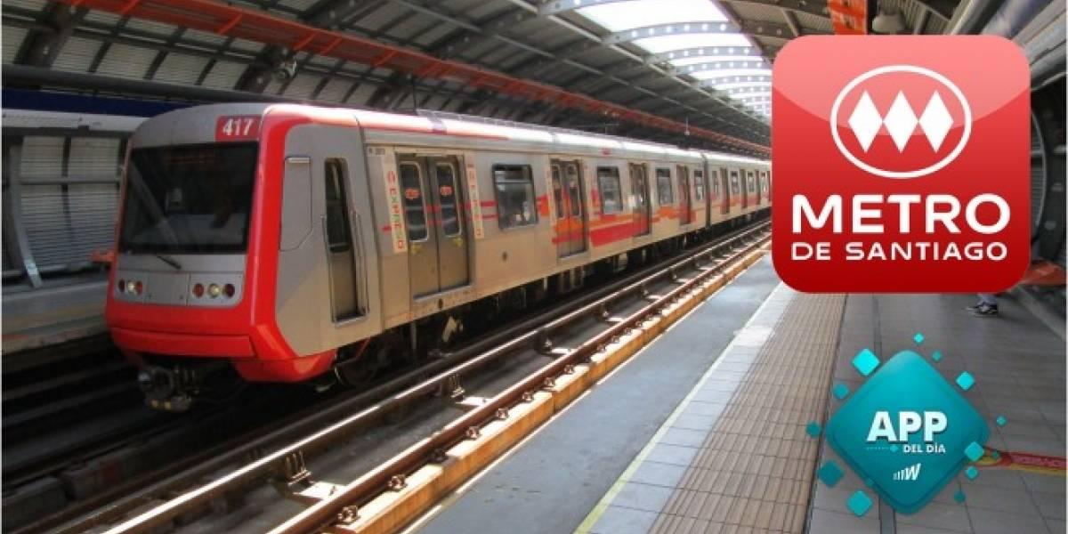Planifica viajes y recibe alertas con la app oficial del Metro de Santiago