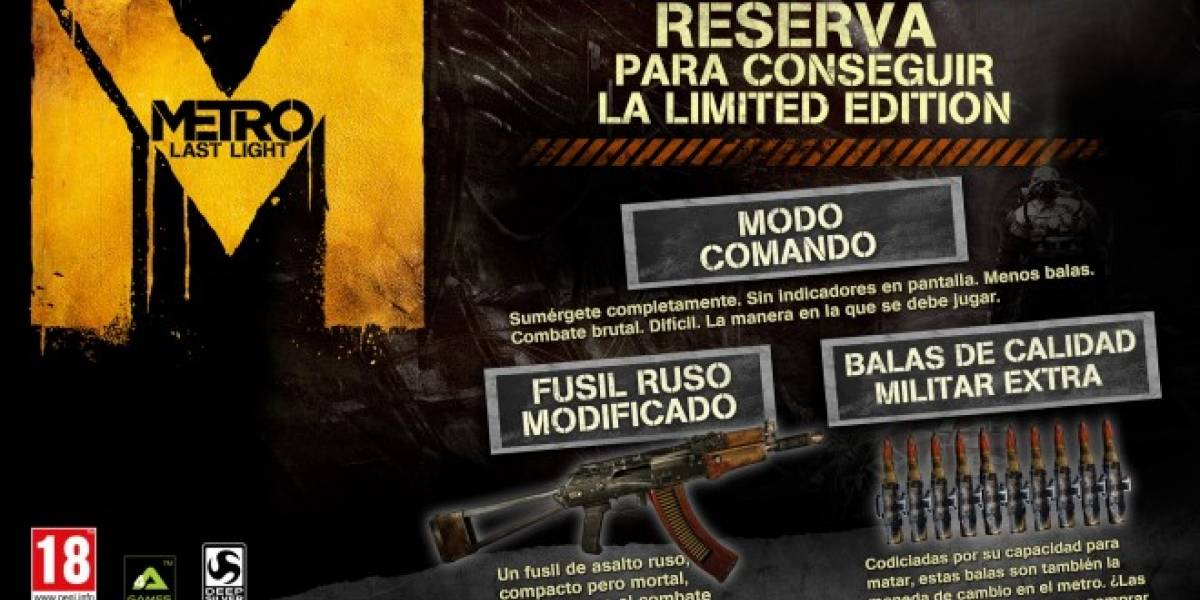 Ya se puede precomprar Metro: Last Light en Steam