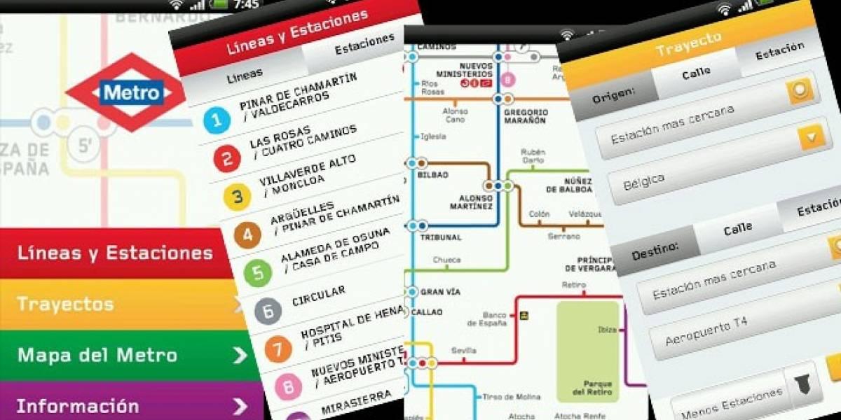 Metro de Madrid estrena aplicación Android