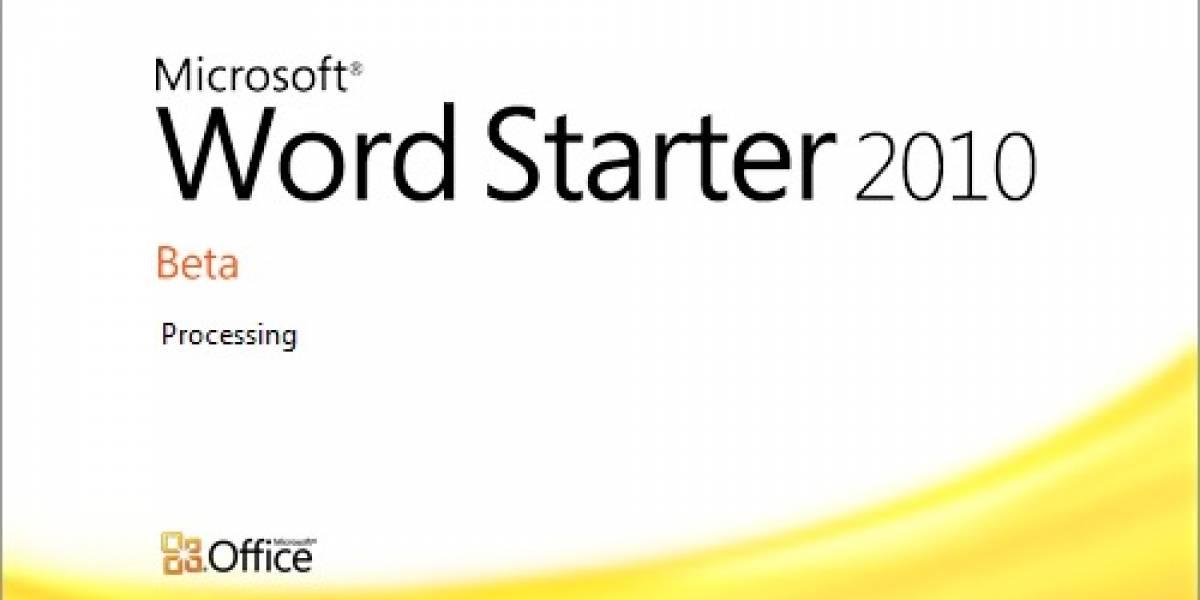 Microsoft: Office Starter por US$2 a fabricantes pero con barra Bing