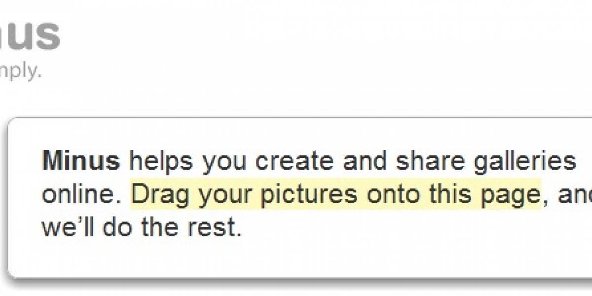 Minus agarra vuelo, hosting de imágenes mucho más simple