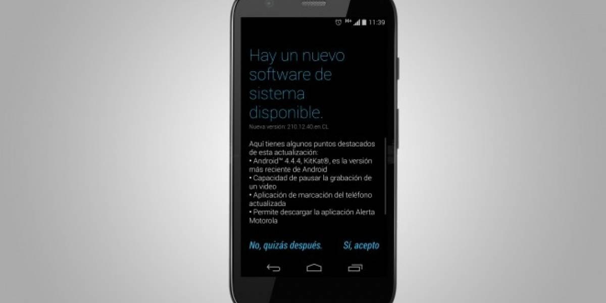 Android 4.4.4 KitKat ya disponible para el Motorola Moto G