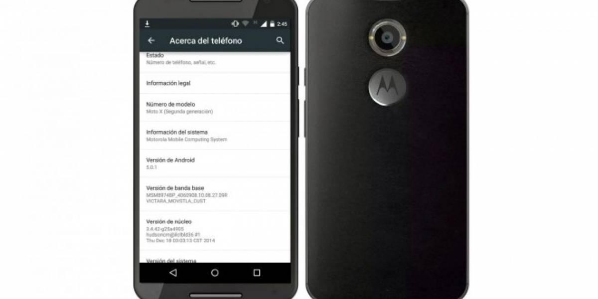 Motorola Moto X 2014 de Movistar Chile ya comienza a recibir su actualización a Android Lollipop