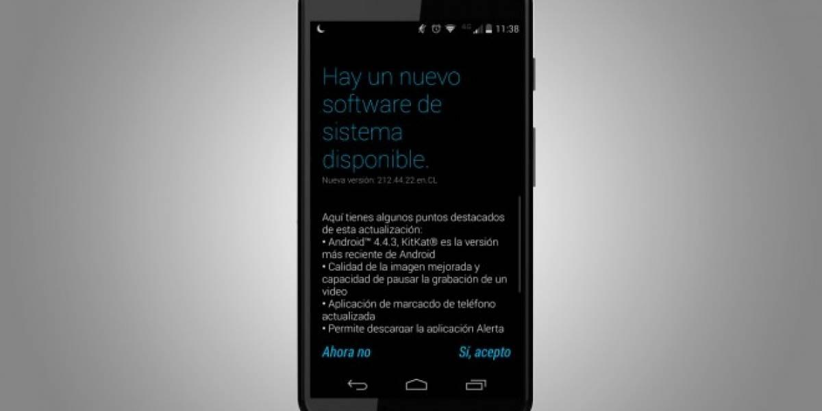 Motorola Moto X de Movistar Chile comienza a recibir Android 4.4.3