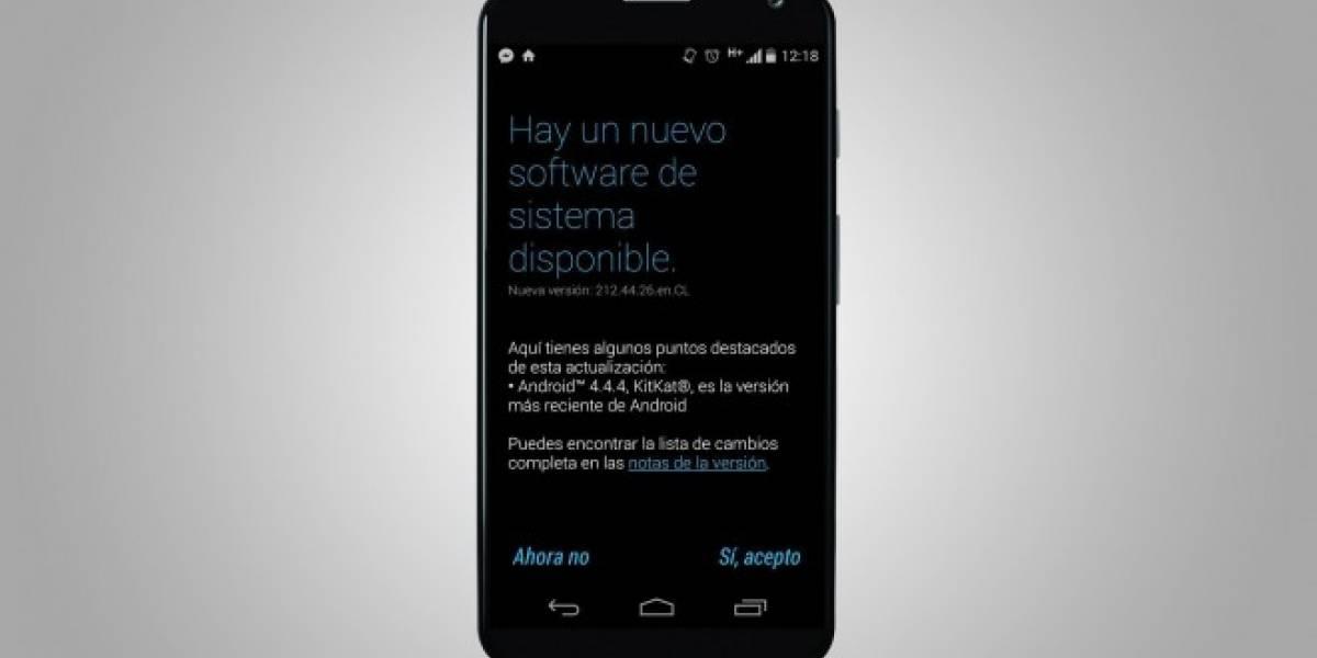 Motorola Chile libera actualización a Android 4.4.4 para los Moto X