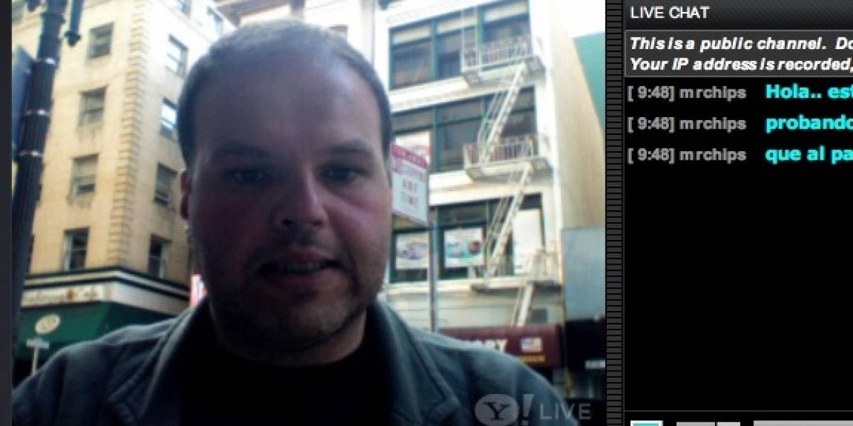 En vivo desde las calles de San Francisco, probando Yahoo Live!