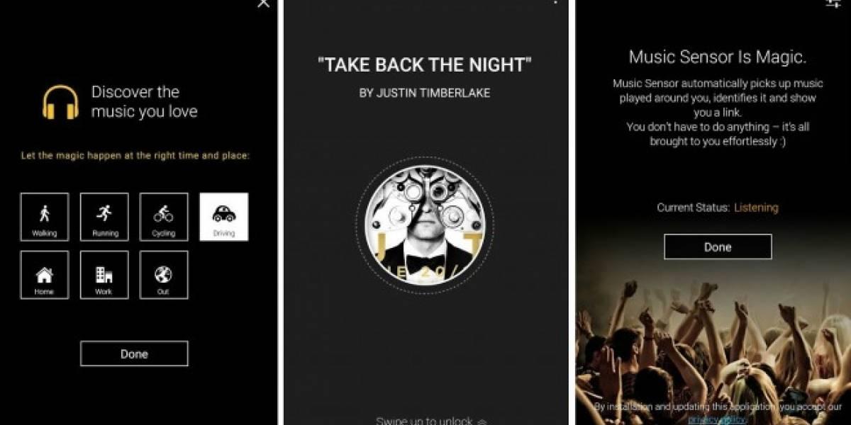 BASE Music Sensor es una aplicación para reconocer música que siempre está atenta
