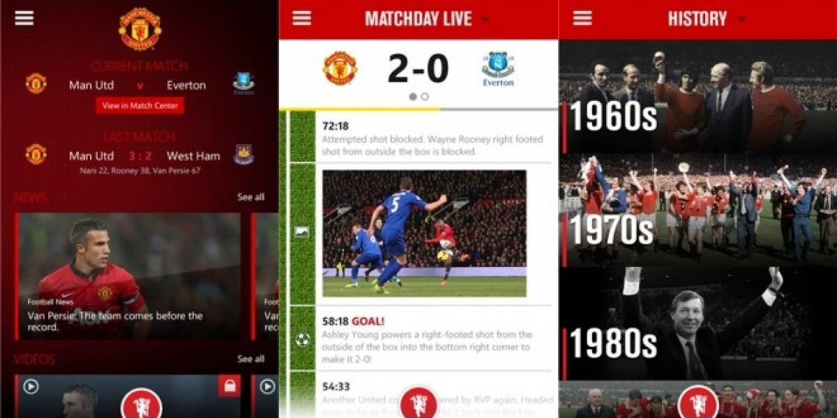 Manchester United tiene su aplicación oficial en Windows Phone