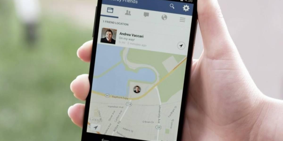 Facebook lanza opción para encontrar a tus amigos en los alrededores