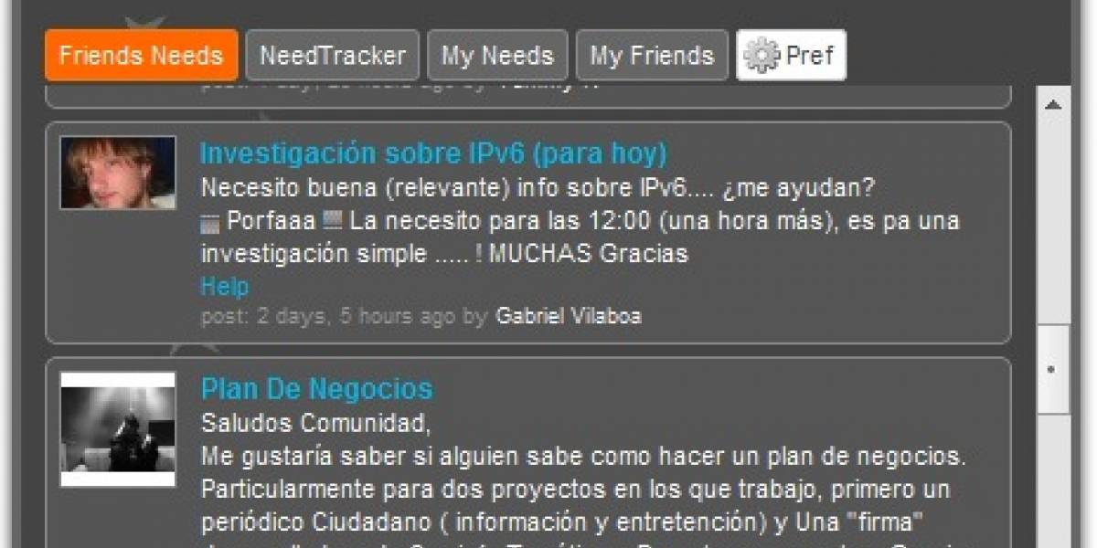 Needish se expande hacia Facebook y se refresca con Adobe Air