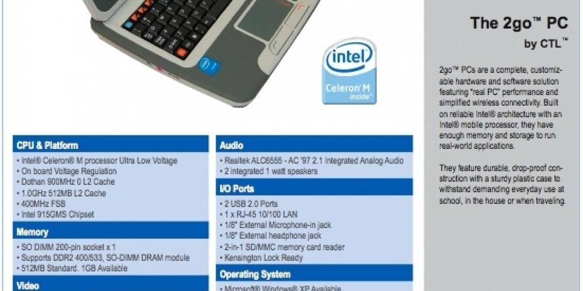 2go PC: El nuevo subnotebook de Intel