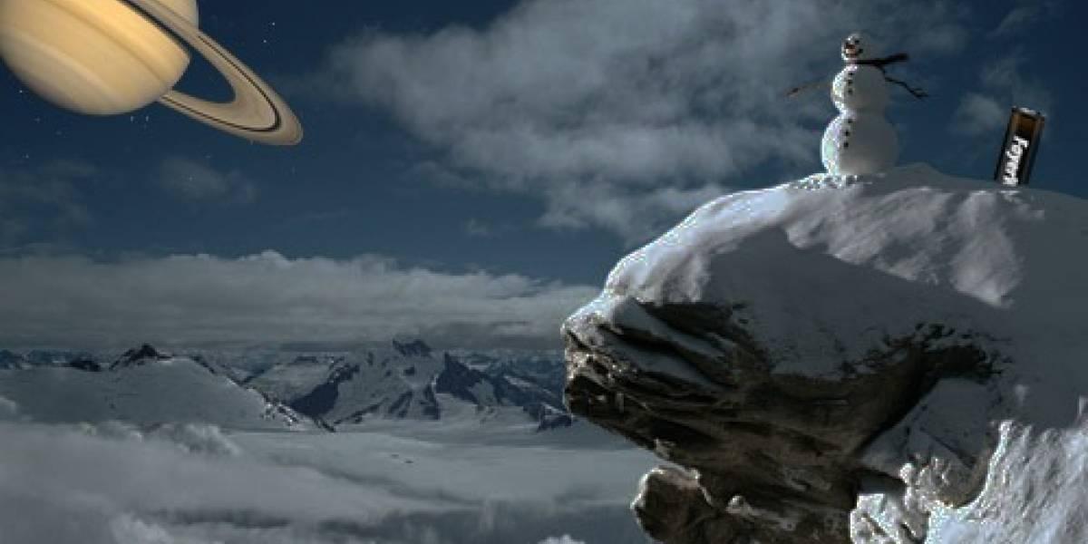 Sonda Phoenix ve caer nieve en Marte