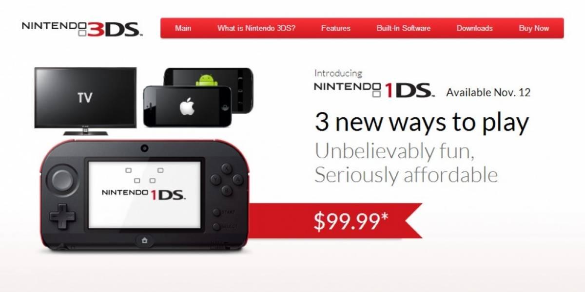 Nintendo 1DS, la broma que se queda como interesante producto