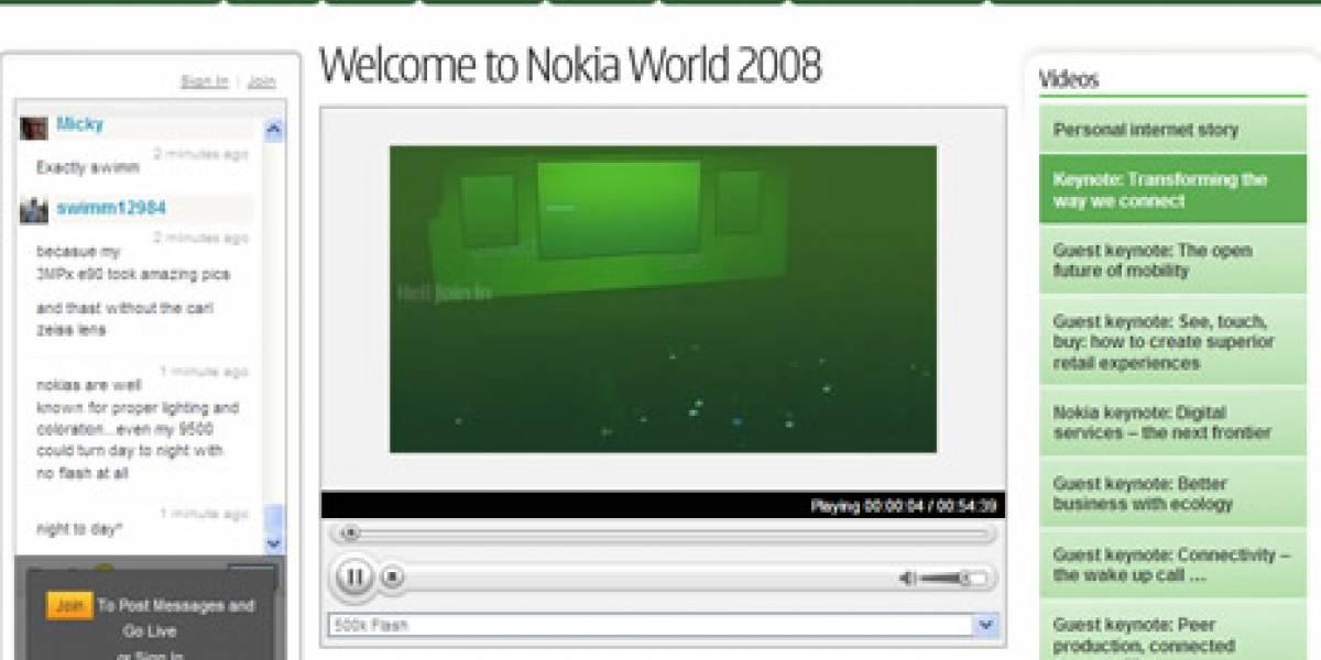 Mira el Nokia World 2008 desde tu escritorio