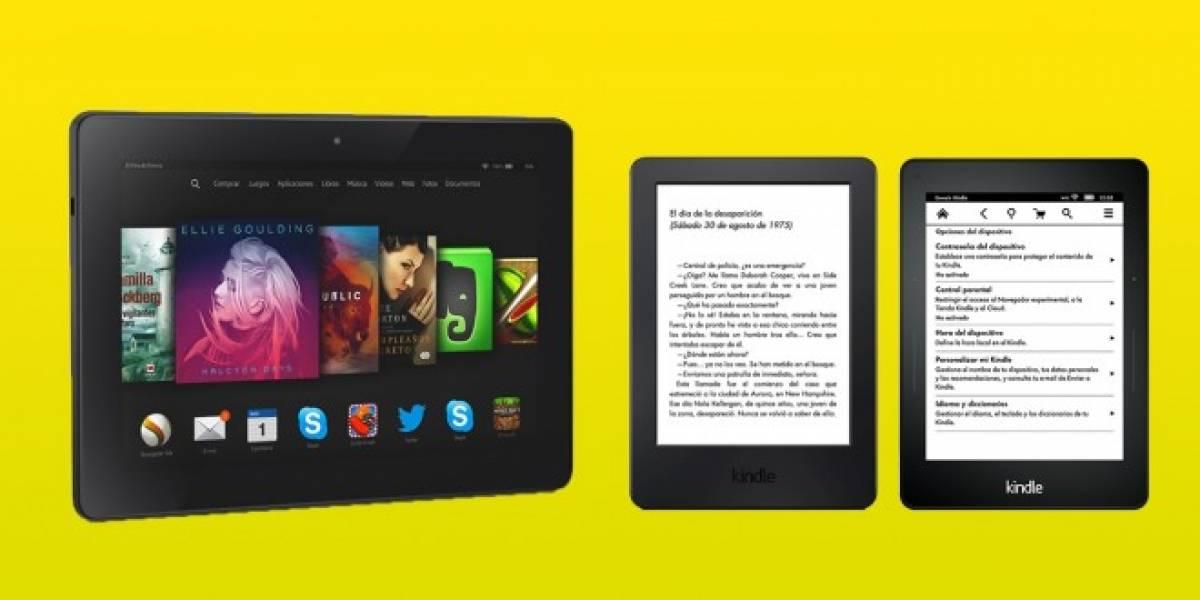 Amazon actualiza su gama Kindle con dos lectores de ebooks y tablets