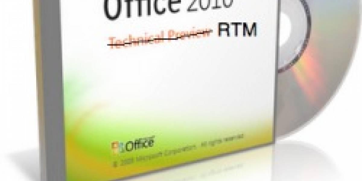 Microsoft Office 2010 alcanza status RTM