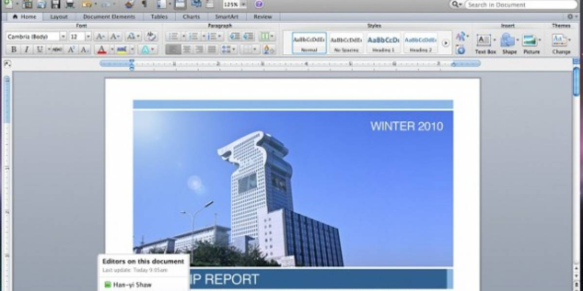 Publican avance en video de Office:mac 2011