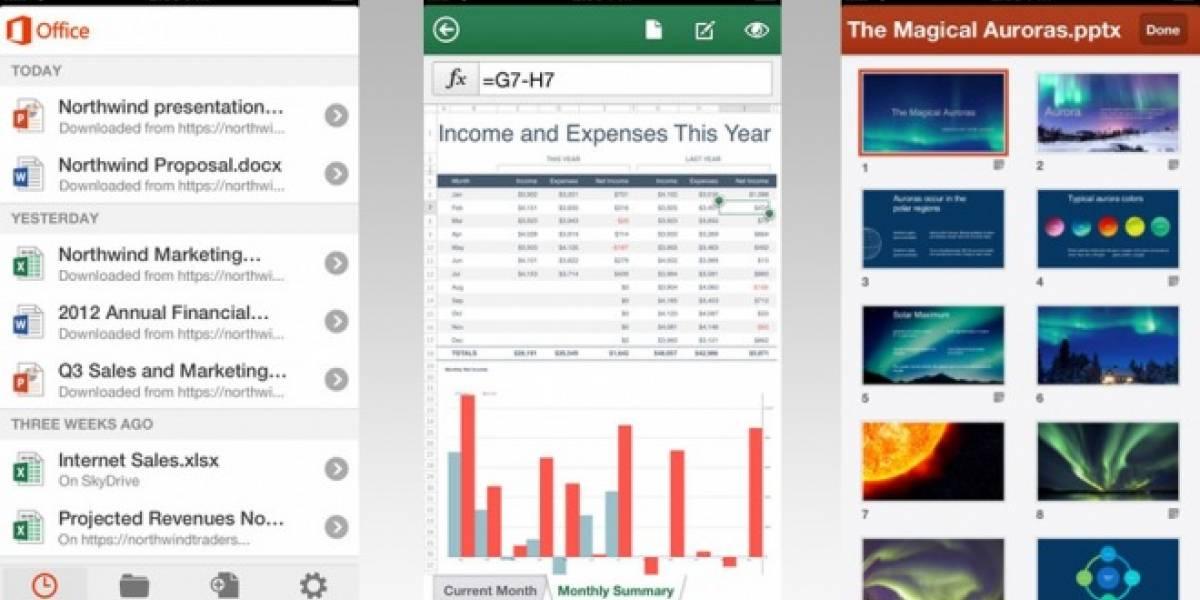 Actualización de Office para iOS incluye soporte para iCloud