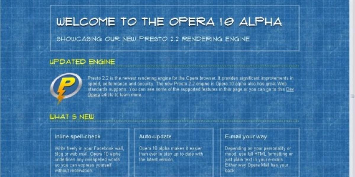 Opera 10.0 Alpha 1