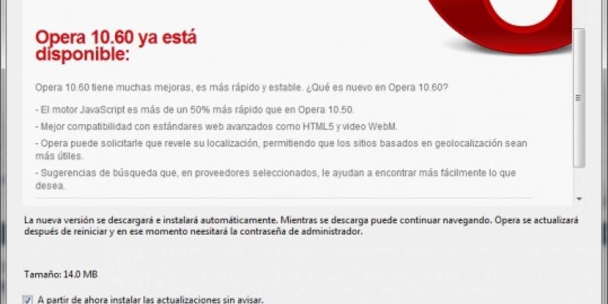 Opera lanza versión final de 10.60 cargado de novedades y velocidad