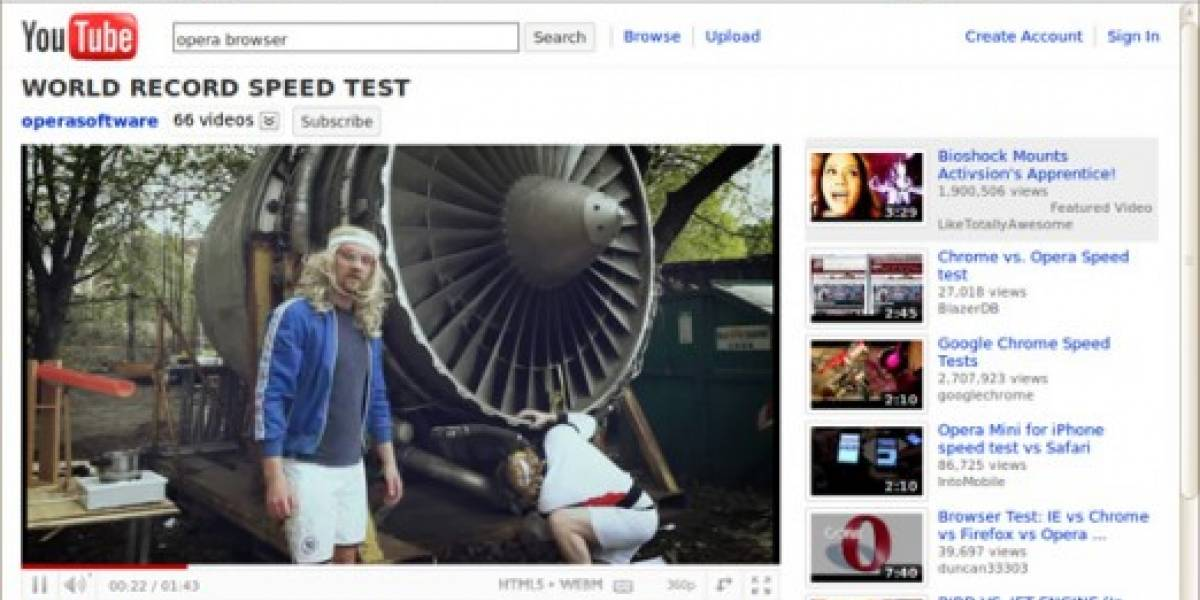 Opera incluye WebM y HTML5 en compilado de prueba