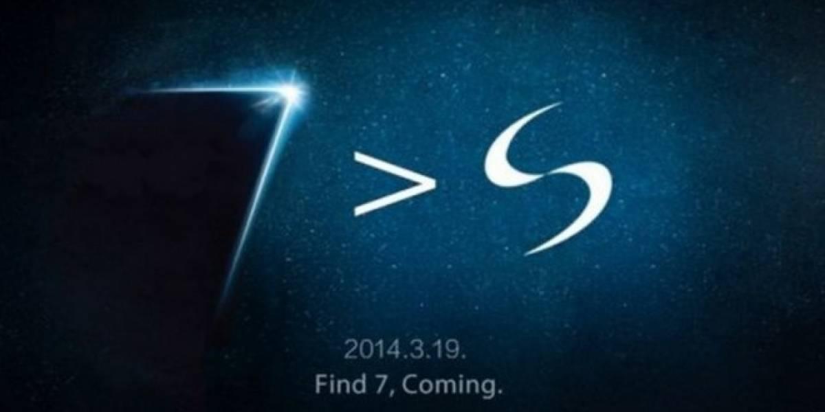 Oppo se burla del Samsung Galaxy S5 en su aviso teaser de su nuevo Find 7