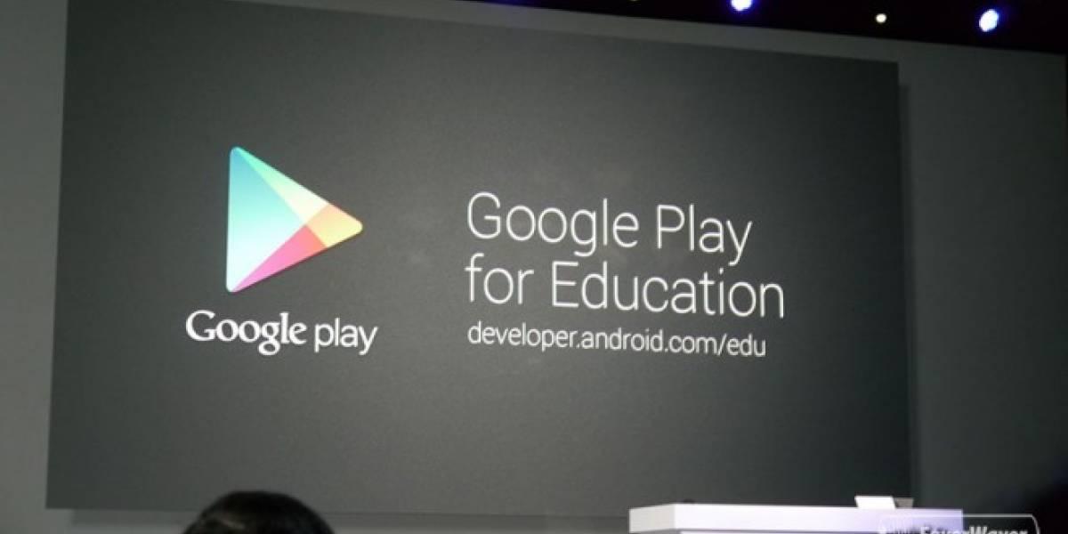 Google Play para Educación, una tienda de aplicaciones para profesores #IO13