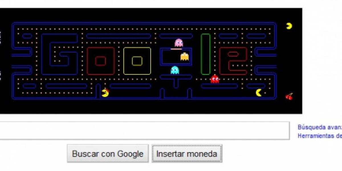 Logo de Google se transforma por primera vez en juego: Pacman