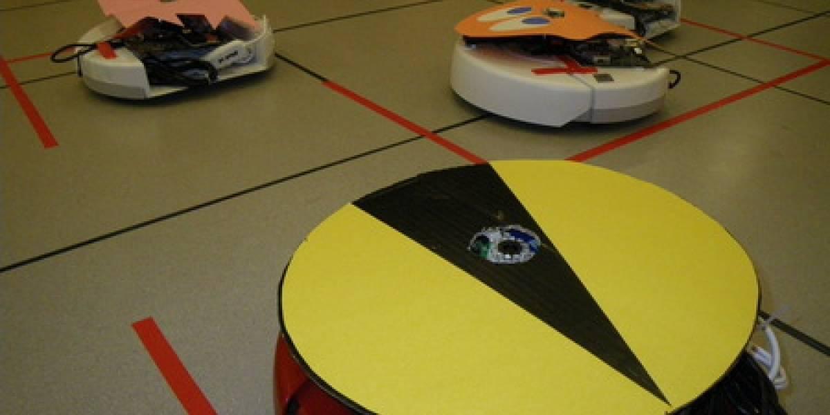 Recrean Pac-Man con aspiradoras Roomba