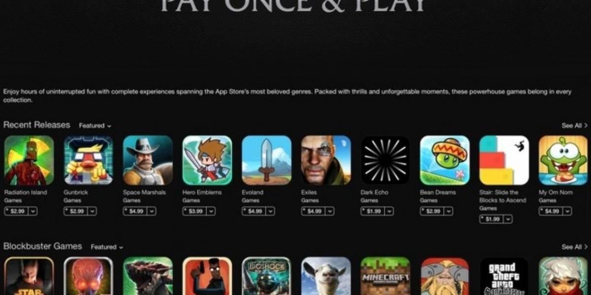 Apple estrena sección en su App Store para juegos sin compras internas