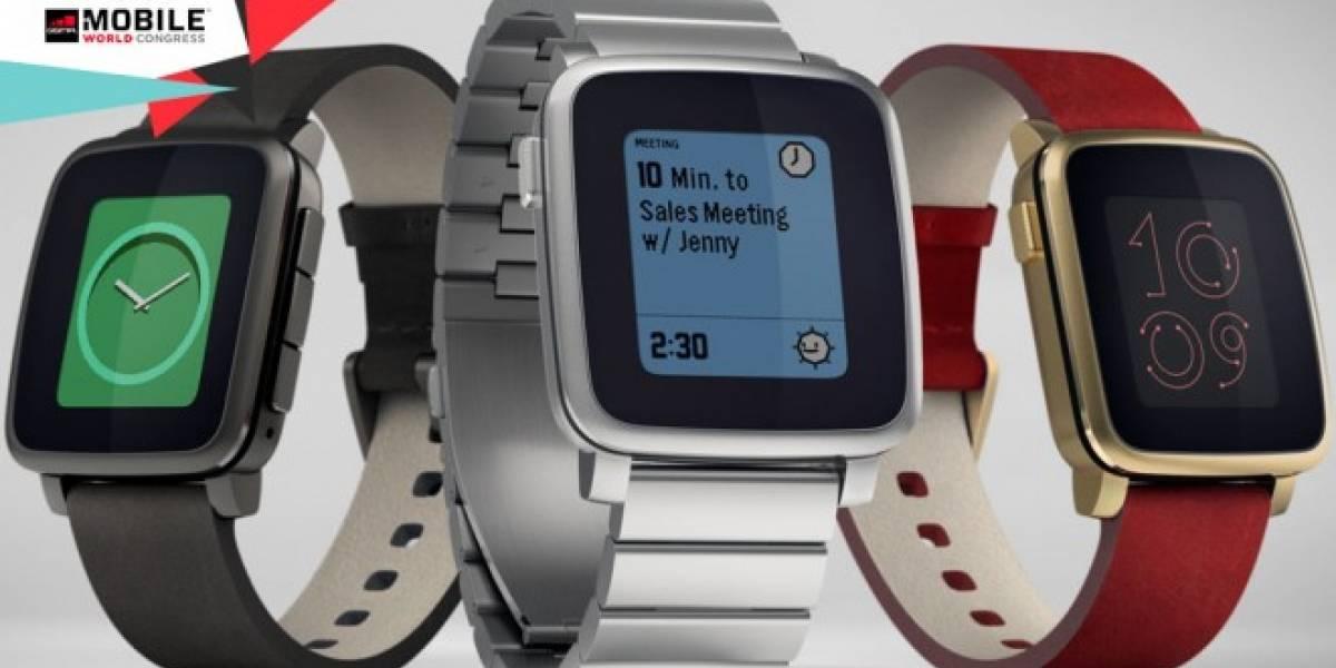 Pebble Time Steel, la versión de acero del nuevo smartwatch de Pebble #MWC15
