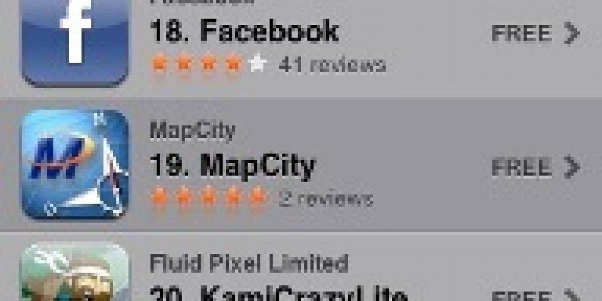 Ahora disponible Mapcity para el iPhone