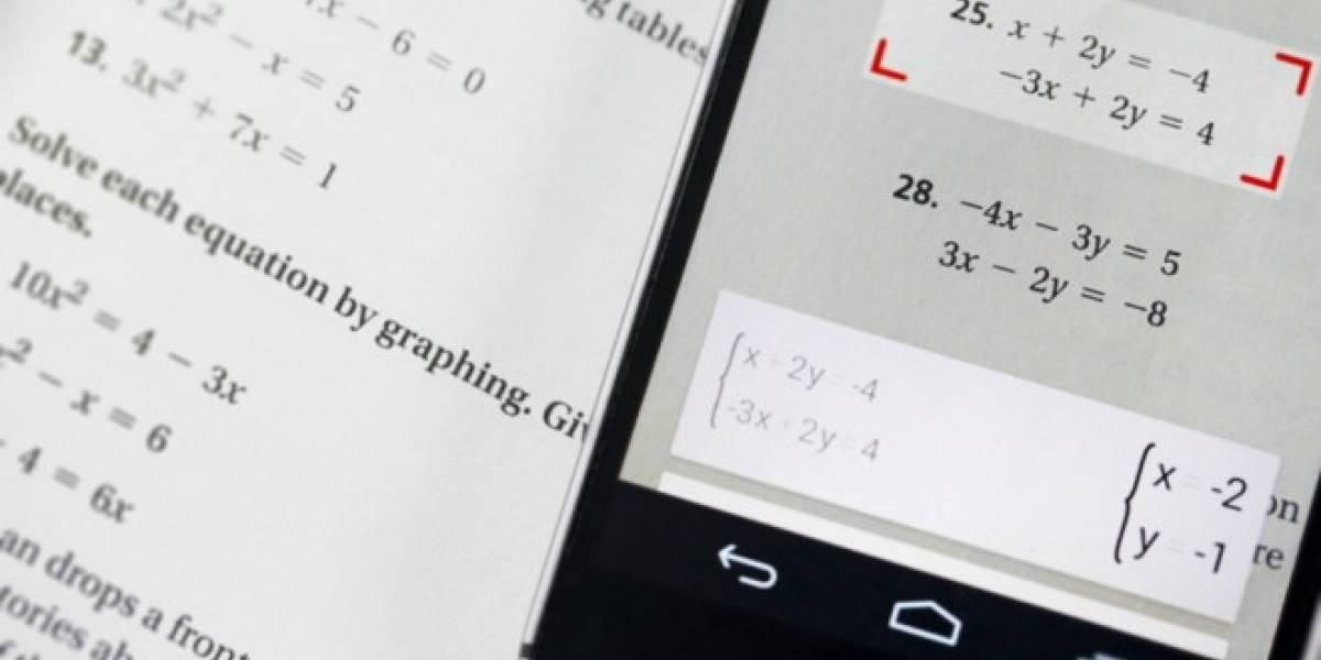 PhotoMath llega a Android para ayudarte a resolver problemas matemáticos