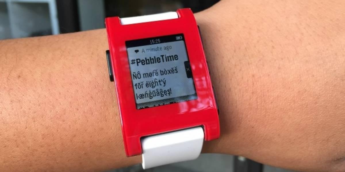Actualización de firmware de Pebble amplía soporte para 80 idiomas diferentes