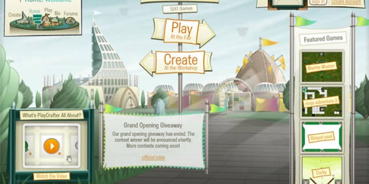 Playcrafter: Crea tus propios juegos en Flash online