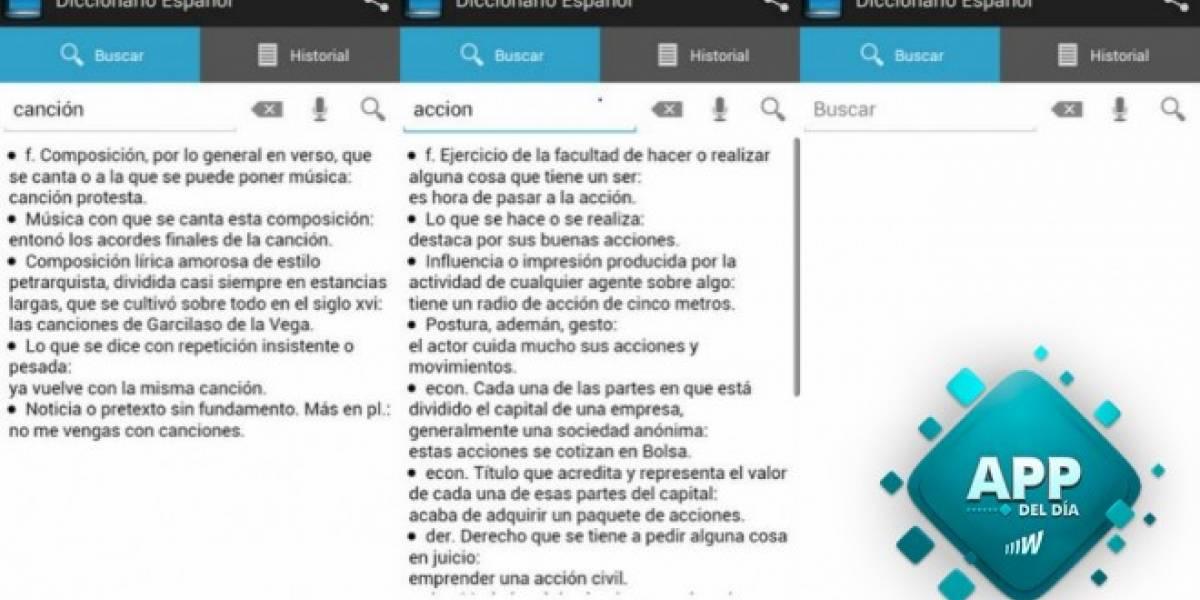 Diccionario Español, acceso a definiciones incluso sin conexión [App del día]
