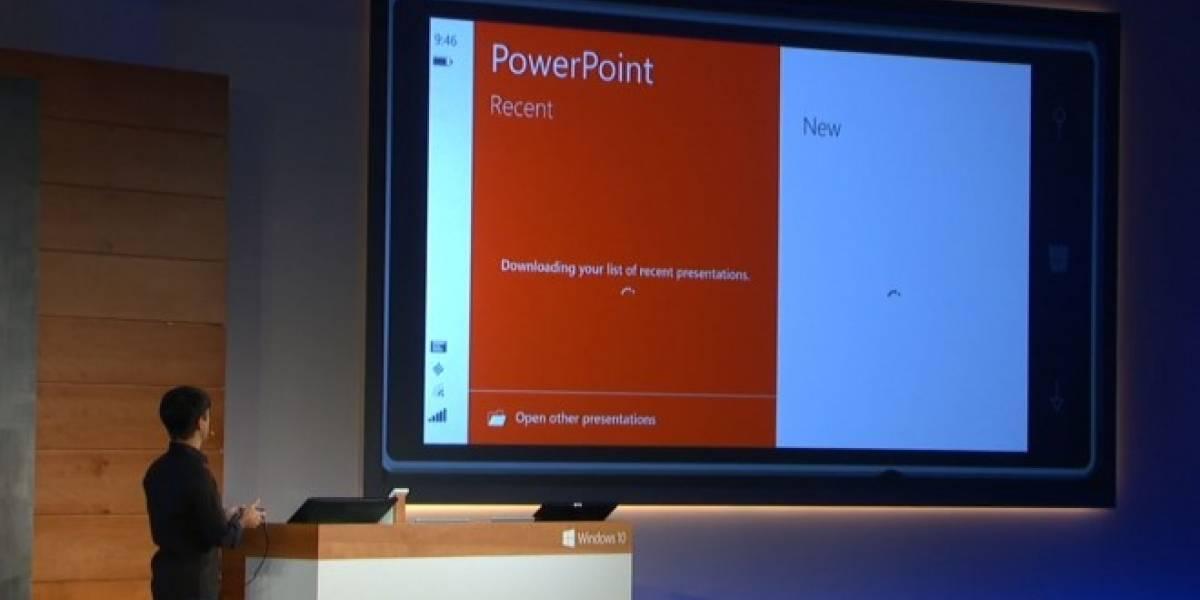 Microsoft muestra Office para móviles con Windows 10