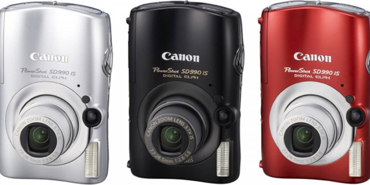Canon PowerShot SD880 IS y SD990 IS, estilizadas pero potentes